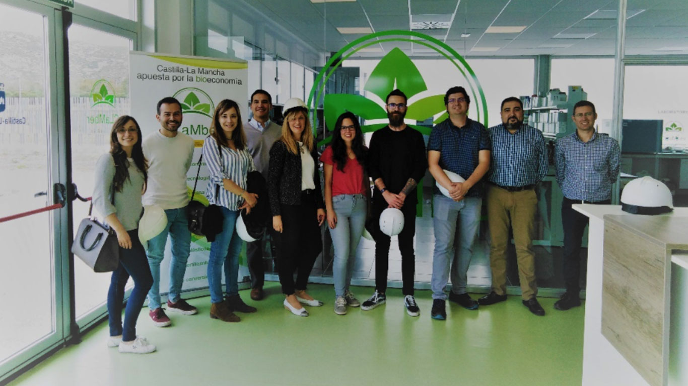 IMECAL-IMDEA partners during the visit to CLAMBER plant on the 20th May 2019